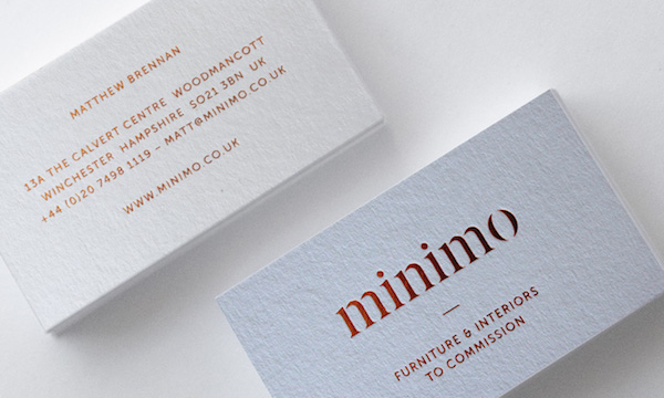 Minimo premium foilspot uv business cards premier printers minimo premium foilspot uv business cards reheart Image collections